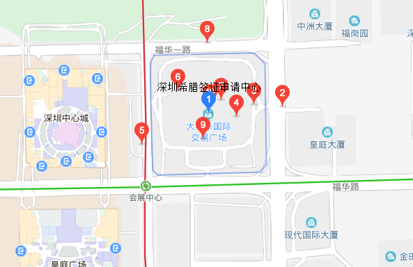 深圳希腊签证中心地址